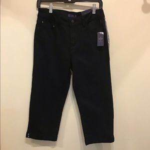 NWT NYDJ Petite Black Pants 2P Cropped